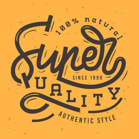 merchandize: Super Quality Vintage Retro Influenced Label Tag Sign Design For
