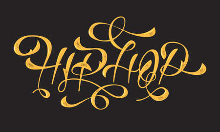 Hip Hop Golden Artistic Custom Old Fashioned Lettering Design. V