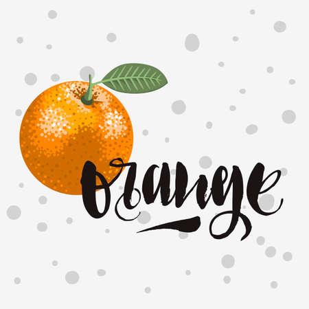 Orange Handwritten Brush Calligraphy