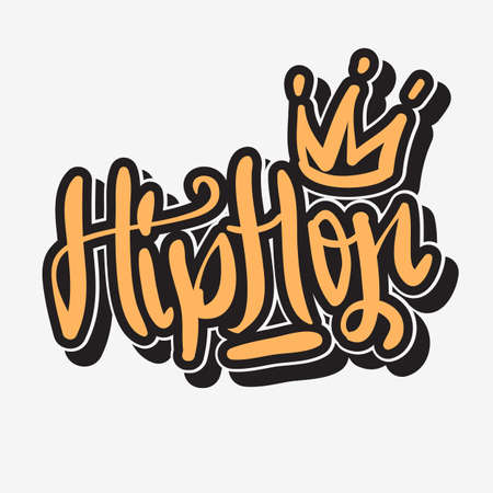 Hip Hop Lettering Graffiti Tag Style Custom Type Design vector