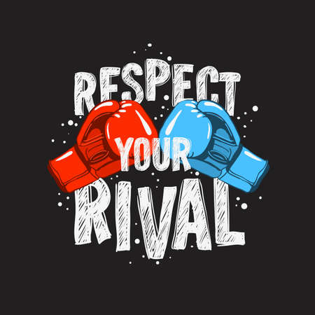 Typography Motivational slogan quote Boxing Tee Print design for t shirt printing Illustration