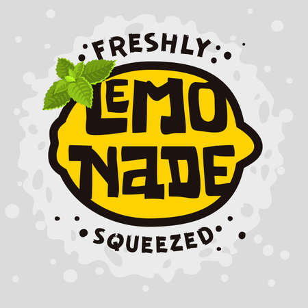 Home Made Lemonade Typographic Design.