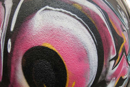 Graffiti Wall Fragment FishEye Texture For Background.