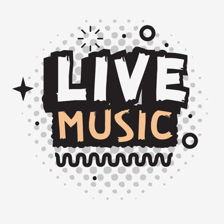 Live Music In The Concert Vector Type Design.