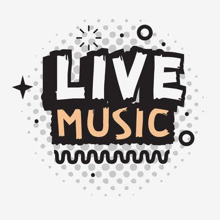 Live Music In The Concert Vector Type Design. Banco de Imagens - 101908037