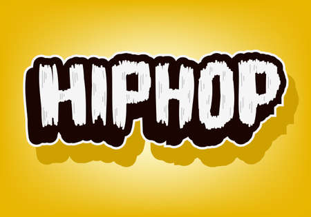 Hip Hop Music Lettering Type Design Vector Image