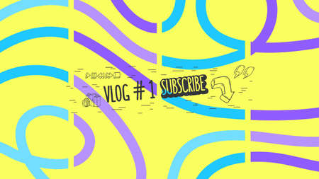 Abstract Cover For Vlog Video Blog Social Media Channel Vector Graphic.