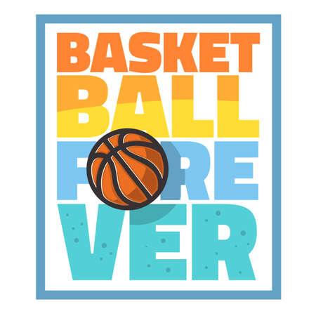 Basketball Themed Slogan T Shirt Print Design Vector Graphic.