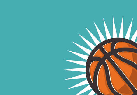Basketball Themed Design For Web Banner With A Place For Text Basketball BallVector Graphic.