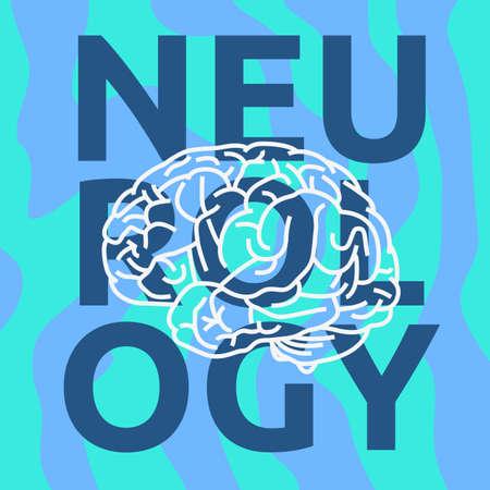 Human Brain Science Themen Design Vektorgrafik. Vektorgrafik