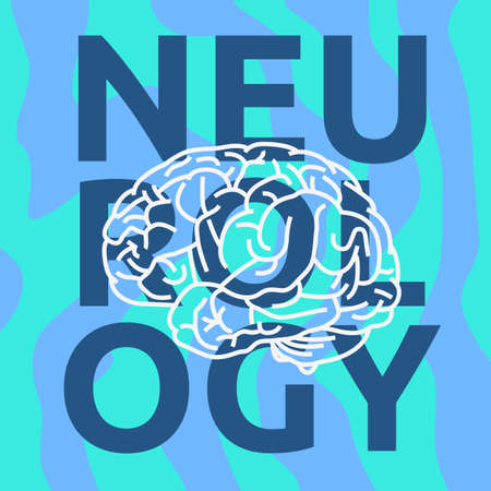 Human Brain Science Themed Design Vector Graphic.