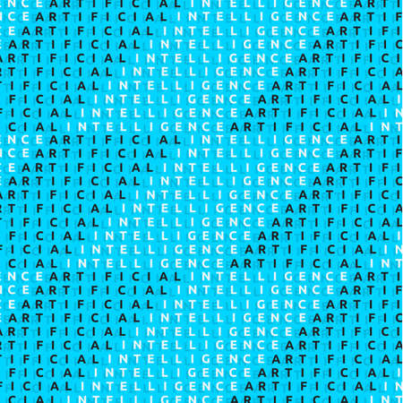 Artificial Intelligence Themed Typographic Background Design Vector Graphic.
