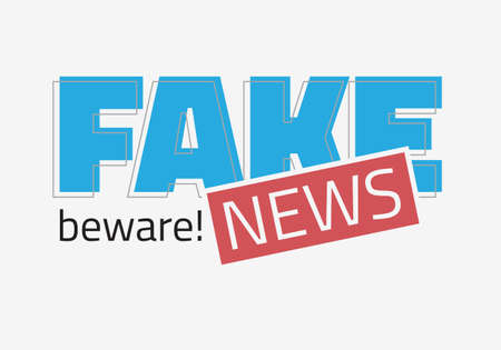 Fake News Typographic Design On A White Background Vector Media.