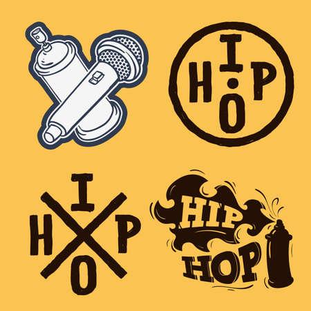 Hip Hop Rap Music Related Vector Illustrations Designs.