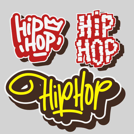 Hip Hop Rap Music Related Vector Illustrations Designs.