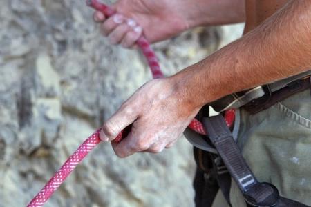Element climbing safety Stock Photo