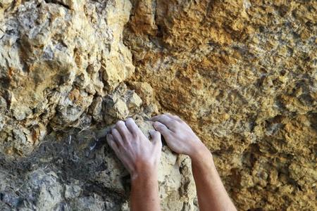 Climbers hands photo