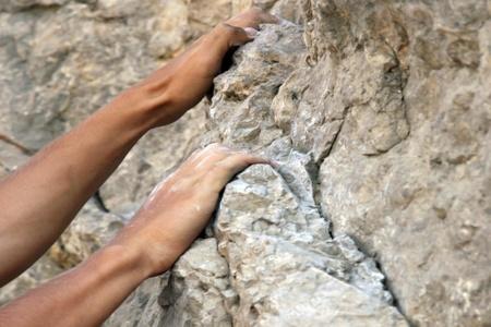 Mains de grimpeurs