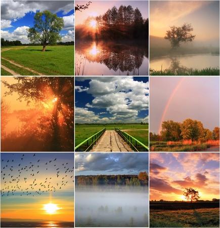 Collage de printemps Banque d'images