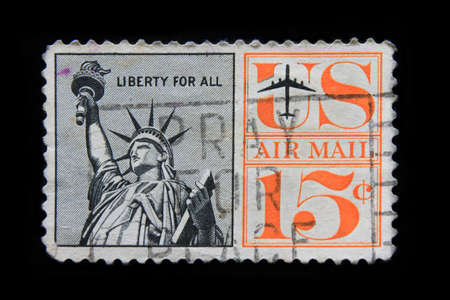 U.S. postage stamp with the Statue of Liberty photo