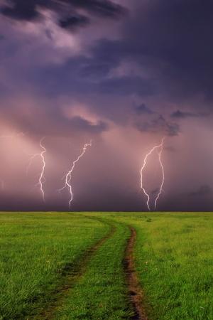 Onweer op het gebied van de lente