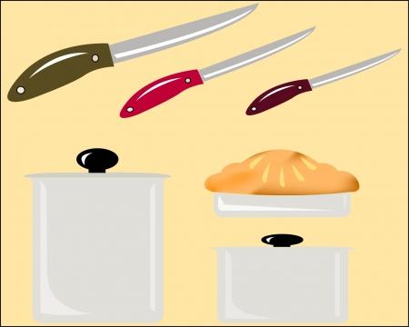 kitchen utensil: Set of Kitchen utensil Illustration