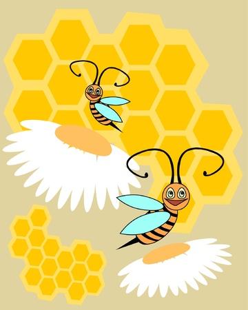 funny bee Vector