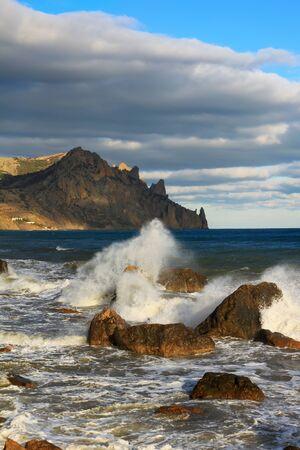 Stormy sea photo