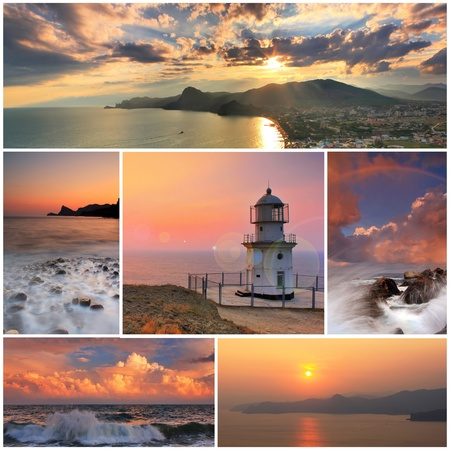 Collage of sea landscapes photo