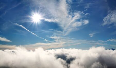 Clouds with the sun under tropical sea Stock Photo - 12899672