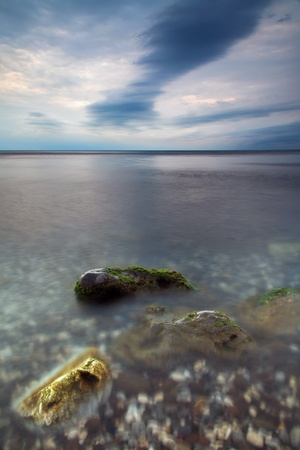 Stormy sky under the sea  photo