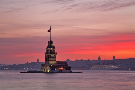 Maiden s Tower  Kiz Kulesi   Istanbul, Turkey  photo