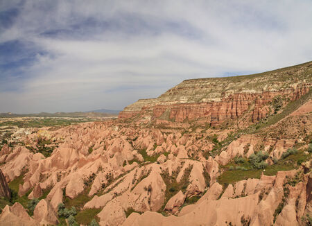 Panorama of Rose Valley in Cappadocia photo