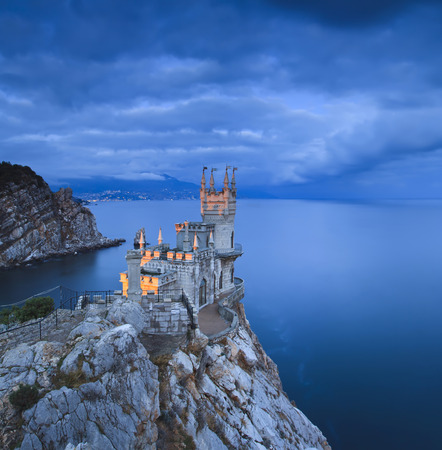 Swallows Nest castle at sunset