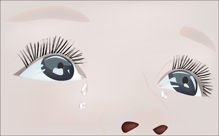 realism: vector crying baby