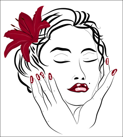 Face of a beautiful woman  Illustration