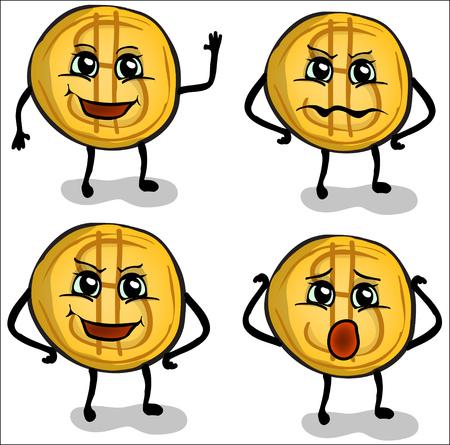 us coin: moneda divertida con diferentes emociones