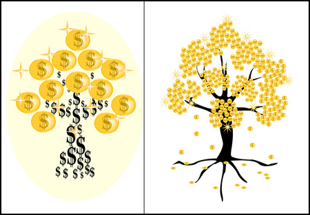 set of money: set money trees