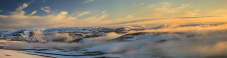 Panorama of the Norwegian mountains photo