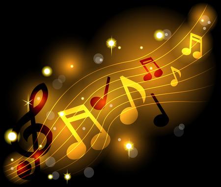 Shining musical notes Vector