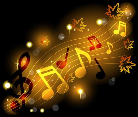 note musicali: Brillante note musicali
