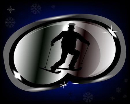 ski goggles: Stylized Ski Goggles