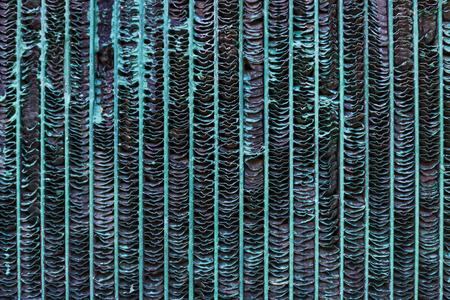 Old rusty radiator.  photo