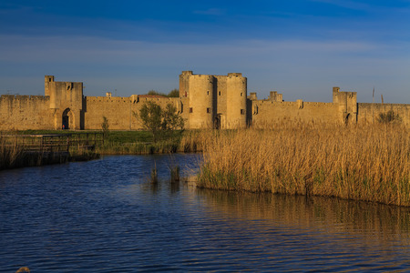 camargue: Ancient beautiful city in France. Languedoc. Camargue.