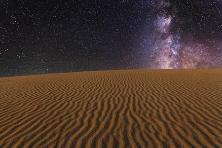 stellate: Amazing views of the Gobi desert under the night  starry sky. Stock Photo