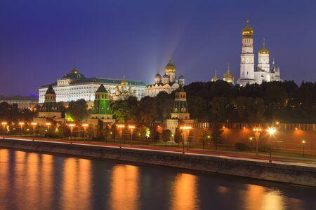 night views: Beautiful night views of Moscow Kremlin. Russia. Stock Photo