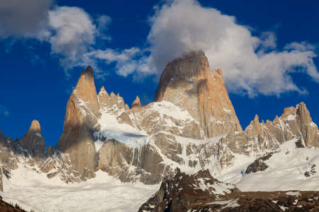 fitzroy: View of famous Fitz Roy. Patagonia. Argentina.