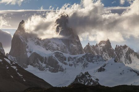 roy: View of famous Fitz Roy. Patagonia. Argentina.