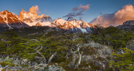fitz: Beautiful landscape with Fitz Roy. Patagonia. Argentina.