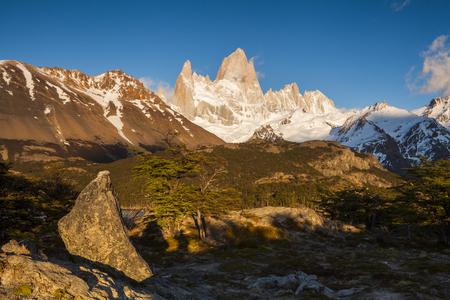 cerro chalten: Beautiful landscape with Fitz Roy. Patagonia. Argentina.